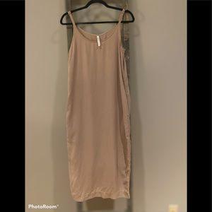 Babaton beige casual maxi dress